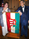 Kato Karasz and Dr. Paul J. Szilagyi at AHF's Commemoration of the 1956 Hungarian Revolution in Washington, D.C.'s Cosmos Club