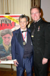 Dr. Paul Szilagyi, 2006 recipient of the Col. Commandant Michael Kovats Medal of Freedom, and son, Bryan Dawson-Szilagyi