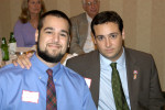 Cameron and Chris Cutrone, AHF Texas Chapter President