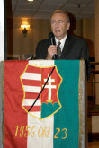 Csaba Teglas, as keynote speaker, gave a very moving account of 1956 and its meaning