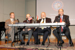 Left to Right: Bryan Dawson-Szilagyi, Executive Committee Chairman of AHF;  Dr. Witold Lukaszewski, a Professor of Political Science from Sam Houston State University; Dr. Lee Williams, Professor of History from the University of St. Thomas; and Panel Chair, Phillip Aronoff