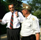 Gusztav Asboth (US Marines), great nephew of Alexander  Asboth speaking with Hungarian Military Attache Col. Janos Varga