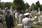 Saluting the national anthem at Arlington Cemetery