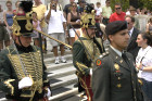 Lt. Col. Vekony with the First Califiornia Hussar Regiment escorting the wreath laying at the Tomb of the Unknown Soldier