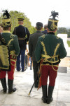 The Hussars prepare to escort Attila Micheller for the wreath laying at the Tomb of the Unknown Soldier