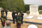 Attila Micheller and his escorts at the wreath laying at the Tomb of the Unknown Soldier