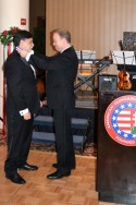 Bryan Dawson presents the AHF Kovats Medal of Freedom to Minister Tamas Fellegi at the 2014 Hungarian Charity Ball in Washington, D.C.