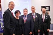 Left to Right: AHF President Frank Koszorus; Hungarian Ambassador Reka Szemerkeny; Rep. Smith; Rep. Dan Lipinski; AHF Chairman Akos Nagy