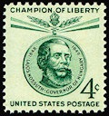 "The U.S. Postal Service issued Louis Kossuth stamps in 1958 as part of the ""Champion of Liberty"" series designed by AHF's renowned artist Gabriella Koszorus Varsa a recipient of AHF's highest honor, the Michael Kovats Medal of Freedom, for her lifetime achievements."