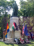 Top Hungarian leaders, U.S. Embassy officials and members of the Hungarian public celebrated the 100th anniversary of the unveiling of the George Washington statue in Városliget (City Park) on September 16, 2006