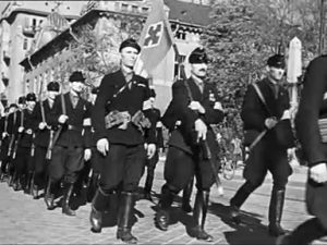 "The ""Iron Cross"" Hungarian Nazi party"