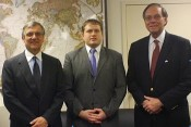 AHF briefs top professional staff advisor to Chairman of the House Subcommittee on Europe and Eurasia on the eve of congressional delegation (CODEL) trip to Hungary and Slovakia. From left to right: Paul Kamenar, Brian Wanko, Frank Koszorus, Jr.