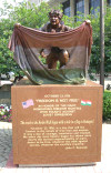 On Saturday June 16, 2007 a statue commemorating the Freedom Fighter of the 1956 Hungarian Revolution was decicated at Cardinal Mindszenty Plaza at 11th and Lakeside in Cleveland.