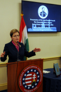 Congresswoman Kaptur represents Ohio's 9th District that hugs the Lake Erie coastline from Cleveland to Toledo, home to a large number of Americans of Hungarian origin and other Central and East European countries. She was born in Toledo of Polish ancestry, and as we all should know, there is a special millenia-old bond of friendship between Hungarians and Poles.
