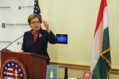 Congresswoman Kaptur, in accepting her award, commented on her love and respect for Hungary