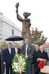 AHF members, leaders, and guests commemorate the 1956 Hungarian Revolution at the Victims of Communism Memorial in Washington, DC