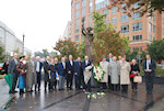 The American Hungarian Federation's October 25 commemoration started with wreath laying at the Victims of Communism Memorial near the US Capitol