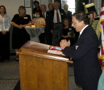 AHF 1956 Commemoration, Congressional Reception and Awards Ceremony - Capt. Sisa accepts the award on behalf of his father