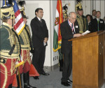 AHF 1956 Commemoration, Congressional Reception and Awards Ceremony - Dr. Szara accepts his award