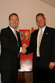 Bryan Dawson presents AHF pin to the Honorable Kevin Stricklin, MSHA Administrator
