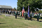 Following the church ceremony, participants followed bagpiper Scott Hamilton and the Perryopolis VFW Post 7023 Honor Guard to the adjacent Olive Branch Cemetery for presentation of the colors and a 21-gun salute commanded by George Timko.