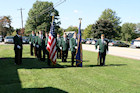 Darr Mine Commemoration at Olive Branch Church in Rostraver, PA - VFW Honor Guard from Perryopolis
