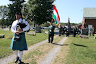 Darr Mine Commemoration at Olive Branch Church in Rostraver, PA - Scott Hamilton on bagpipes
