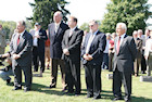 Hungarian-American leaders at the Darr Mine Commemoration at Olive Branch Church in Rostraver, PA