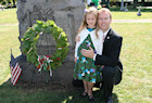 The Darr Mine Commemoration at Olive Branch Church in Rostraver, PA: Bryan Dawson and daughter Xitlalli