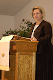 Rev. Ilona Komjathy, Pastor of the First Hungarian Reformed Church of Pittsburgh