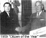 "President Harry Truman awards 1959 ""Citizen of the Year"" to George K. Haydu"