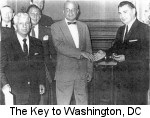 George Haydu receives Key to Washington, DC