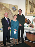 AHF Co-Presidents Zoltan Bagdy and Frank Koszorus with Katalin Almay-Volker, organizer of the exhibit.
