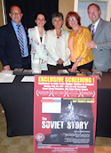 The Boston Red Sludge Relief Committee, Left to Right: Jim Buzgo, Ildiko Losonci, Mariann Polgar-Turcsanyi, Agnes Virga, Bryan Dawson