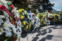 AHF joins embassies and other organizations in a wreath laying ceremony at the Victims of Communism Memorial in Washington, DC