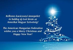 Kellemes Karácsonyi Ünnepeket és Boldog Új Évet Kivánunk!