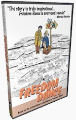 """Freedom Dance"" re-tells the inspiring story of a Hungarian-born artist named Edward Hilbert who (with his newly wedded wife, Judy) made a dangerous escape from occupied Hungary in 1956 during the violent Hungarian Revolution, taking refuge in the land of Edward's dreams: America!"