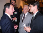 Ed Hilbert and Steven Fischer with Hungarian Ambassador Simonyi and Cultural Attache Dan Karoly
