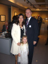 AHF's Vice President Bryan Dawson with wife Chiquis and daughter Xitlalli