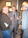 "Edward Hilbert talking with guests at teh ""Freedom Dance"" reception"