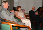 Representatives of the American Hungarian Federation met with the Honorable Janos Horvath on May 2, 2007 in Washington, D.C. at the Kossuth House. Seen here left to right: Gyula Balogh (AHF Co-President), Erika Fedor (former AHF National Secretary), and Dr. Janos Horvath.