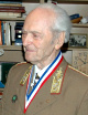 General Bela Kiraly, Ph.D., Commander-in-Chief of the Budapest National Defense Force during the ill-fated 1956 Hungarian Revolution, 2005 recipient of The Colonel Commandant Michael Kovats Medal of Freedom from the American Hungarian Federation