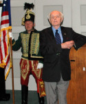 Cong. Tom Lantos addresses the audience after receiving AHF's Col. Commandant Michael Kovats Medal of Freedom