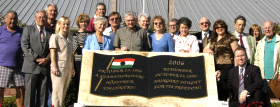 AHF Leadership Conference in front of 1956 Memorial at the Venice Hungarian Club in Florida