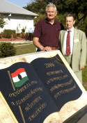 Kalman Nagy and Executive Committee Chair Dr. Paul Szilagyi at AHF's 1956 Memorial at the Venice Hungarian Club in Florida.