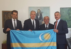 "AHF thanks US Ambassador for his ""moral and political courage in being photographed with the Szekler flag"""